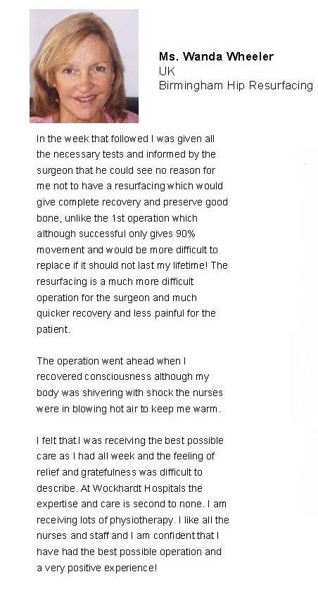 Birmingham Hip Resurfacing - India Review