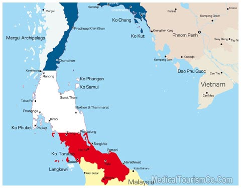Map of Thailand 1