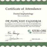 Bausch and Lomb Dental Implantology Certificate