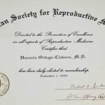 American Society for Reproductive Medicine Certificate