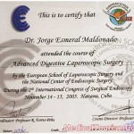 Dr. Esmeral Certificate 6