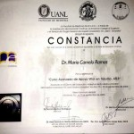 Dr. Camelo Certificate in Advanced Course