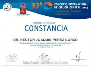 Dr. Hector Perez - Asst. at International Congress of General Surgery
