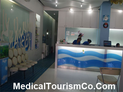 Reception Area of Sea Smile Dental Clinic - Phuket-Thailand