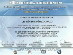 World Congress of Endoscopic Surgery – Dr. Hector Perez