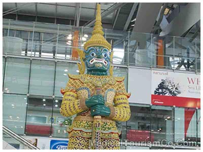 Statue at Bangkok International Airport