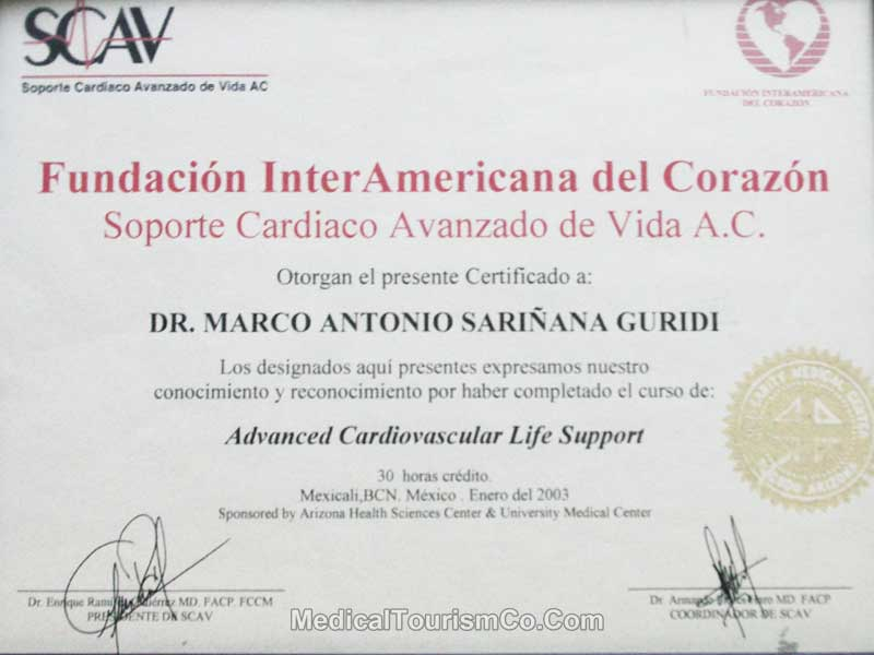 Certification - Dr. Marco Antonio - Best Bariatric Surgeon in Mexicali