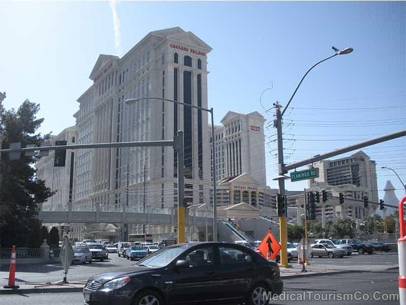 The Caesars Palace in Las Vegas