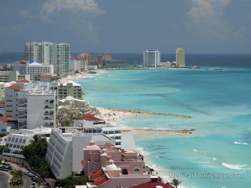 Cancun aerial beach view
