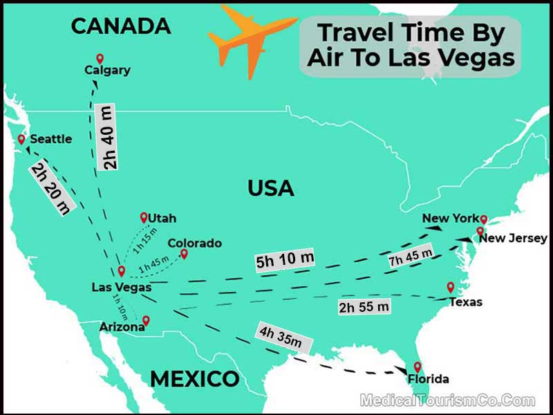 Travel Time By Air To Las Vegas