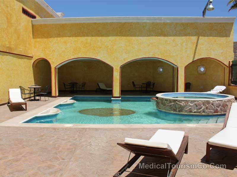 Pool Area Hacienda Hotel Los Algodones