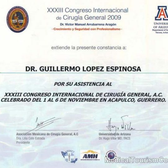Dr. Guillermo Lopez Tijuana Mexico WLS Surgeon