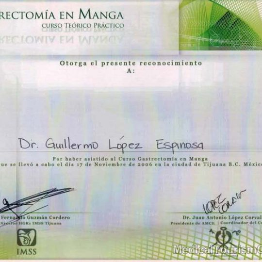 Gastric sleeve Dr. Guillermo Lopez Tijuana