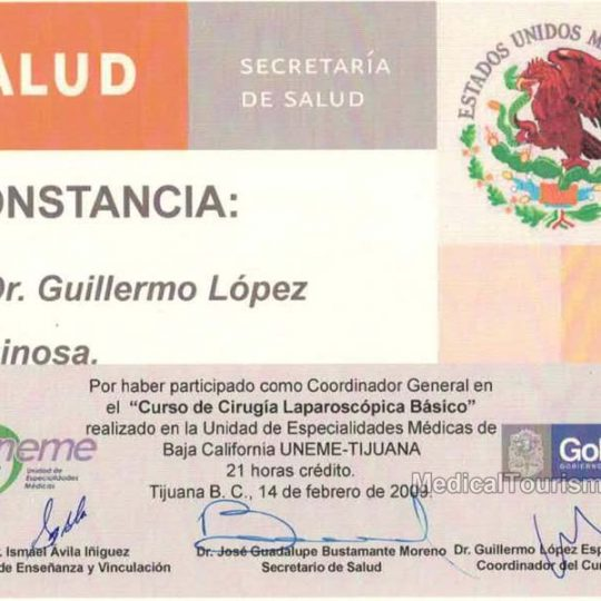 Laparoscopic Surgery Dr. Guillermo Lopez