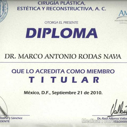 Dr. Marco Rodas Plastic Surgeon Tijuana Board Certification