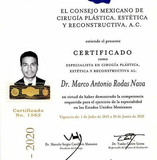 Mexico Plastic Surgeon Association Dr. Marco Rodas Nava