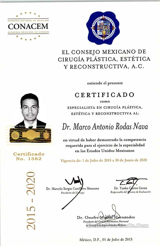 Dr  Marco Antonio Rodas Nava | Plastic Surgeon Tijuana MX