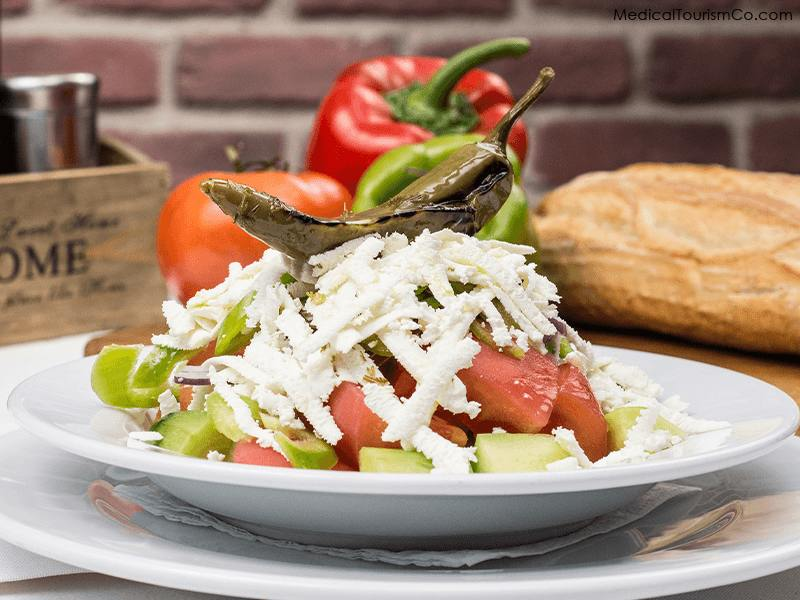 Traditional Bulgarian Salad- Dental Tourism in Bulgaria