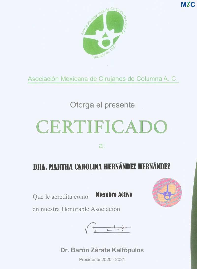 Dr. Martha Carolina   Membership  <span id=