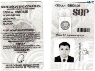 Dr. Jesús Raúl Arjona Alcocer | License