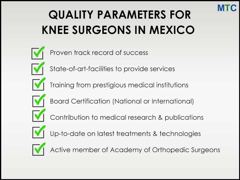 Quality Parameters | Mexico Knee Surgeons